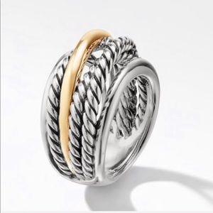 David Yurman Crossover Narrow Ring with 14K Gold